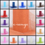 "ORANGE glitter tulle -6"" x 10 yard and 6"" x 25yard rolls - other colors and sizes also available"
