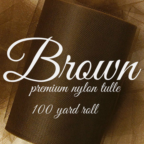 CHOCOLATE BROWN - Premium Nylon Tulle - 100 yard rolls - other colors also available - CreativeStudio805
