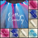 COTTON CANDY - Premium Nylon Tulle - 25 Yard Rolls - SET of 4 - aqua blue, royal blue, fuchsia pink and white - CreativeStudio805
