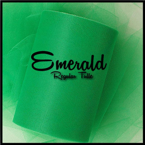 EMERALD GREEN premium nylon tulle - 25 Yard Rolls - other colors and sizes also available