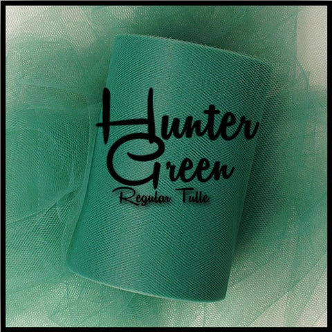 HUNTER GREEN premium nylon tulle - 25 Yard Rolls - other colors and sizes also available
