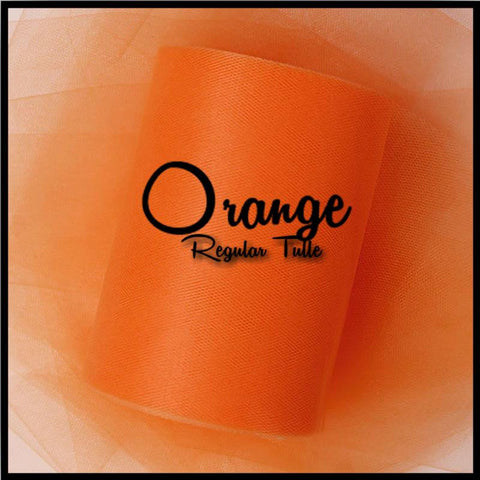 ORANGE premium nylon tulle - 25 Yard Rolls - other colors and sizes also available