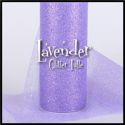 "LAVENDER glitter tulle -6"" x 10 yard and 6"" x 25yard rolls - other colors and sizes also available"