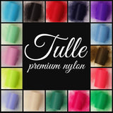 WHITE - Premium Nylon Tulle - 100 yard rolls - other colors also available