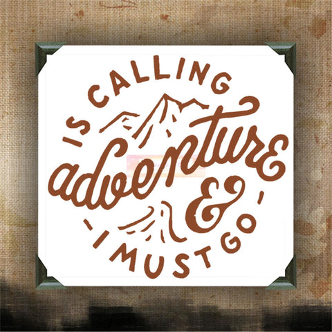 ADVENTURE IS CALLING and I must go - Painted and/or Decorated Canvases - wall decor - wall hanging - custom canvas painting - CreativeStudio805