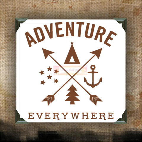 Adventure Everywhere - Painted Canvases - wall hanging - funny quotes on canvas - inspiring quotes and phrases on canvas - CreativeStudio805