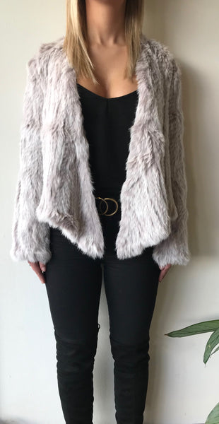 Cara Swing Fur Jacket - Two Tone