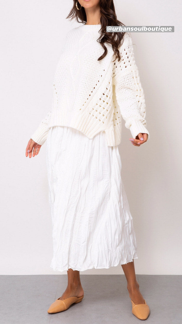 Sophie Knit - Ivory - SALE