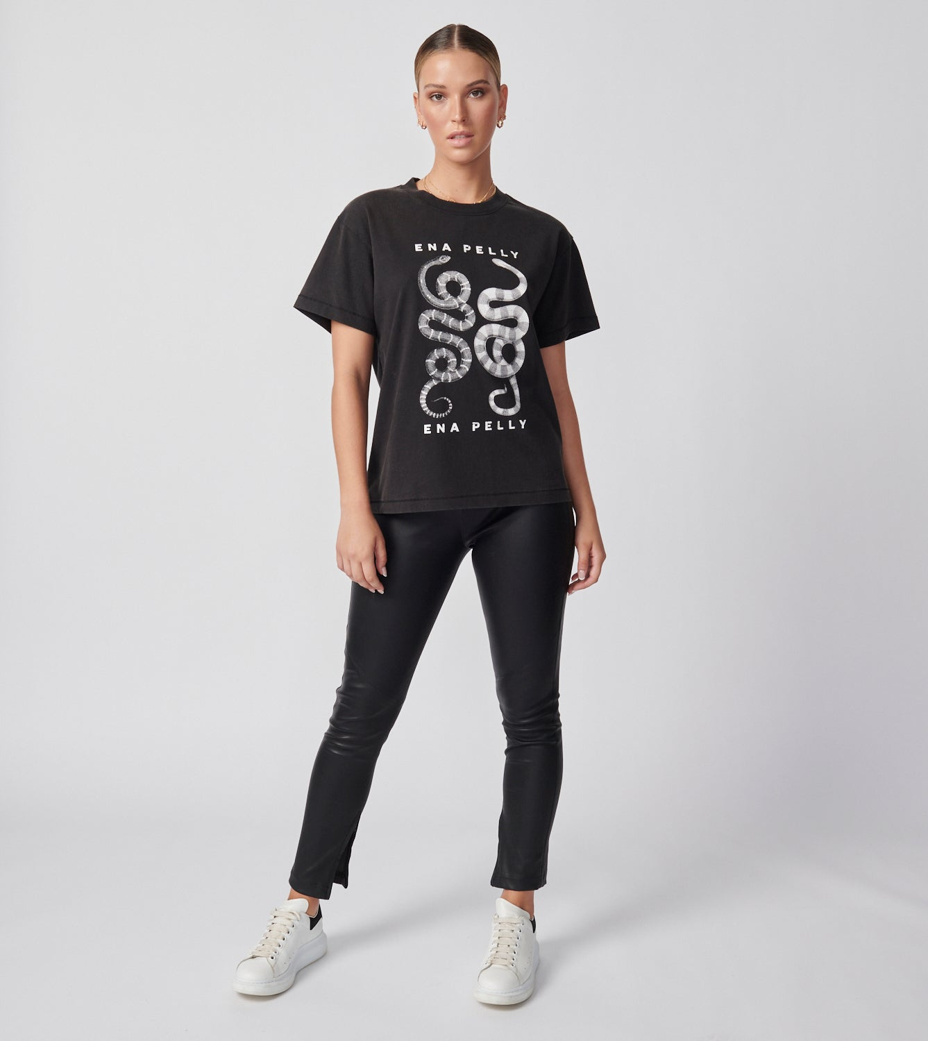 Ying Yang Tee - Washed Black