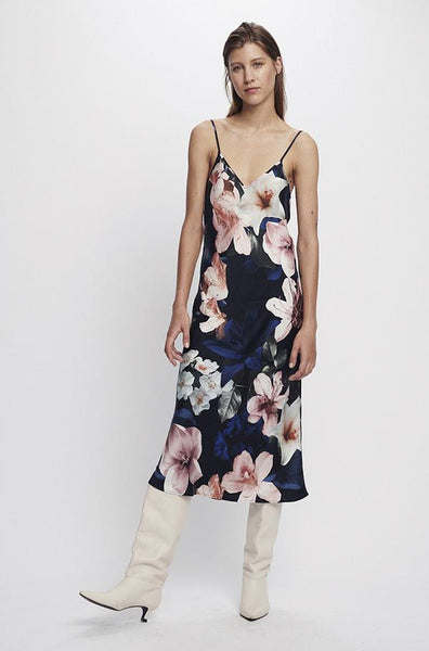 Silk Laundry 90's Silk Slip Dress - Lilies