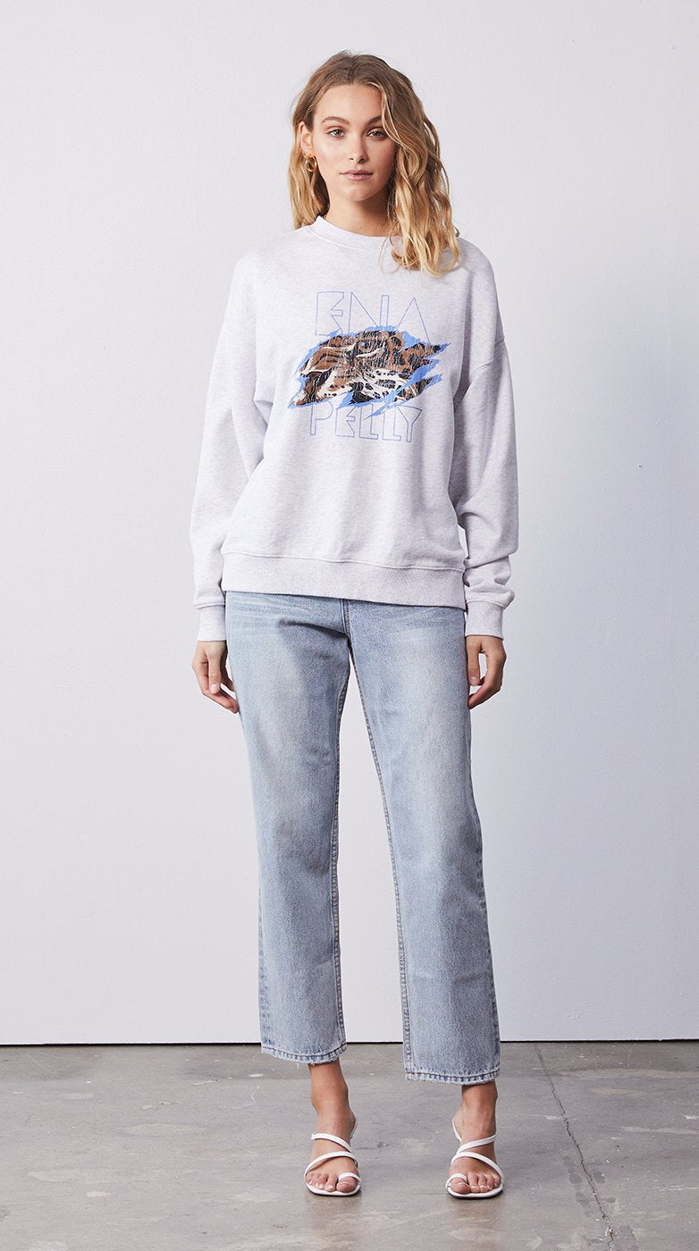 Tigers Eye Sweatshirt - White Marle