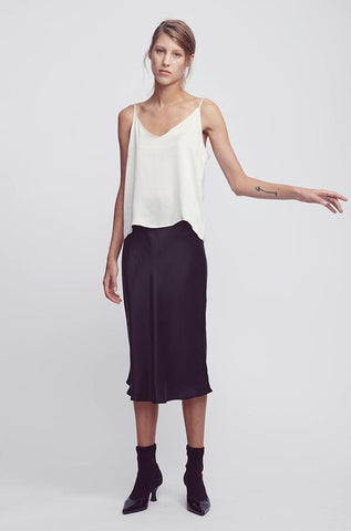 Silk Laundry Bias Cut Skirt - Black