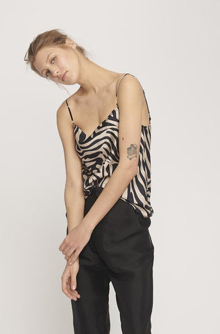 Silk Laundry Straight Neck Cami Matisse