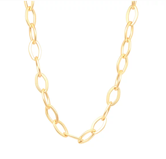 Marie Chunky Chain Necklace - Gold