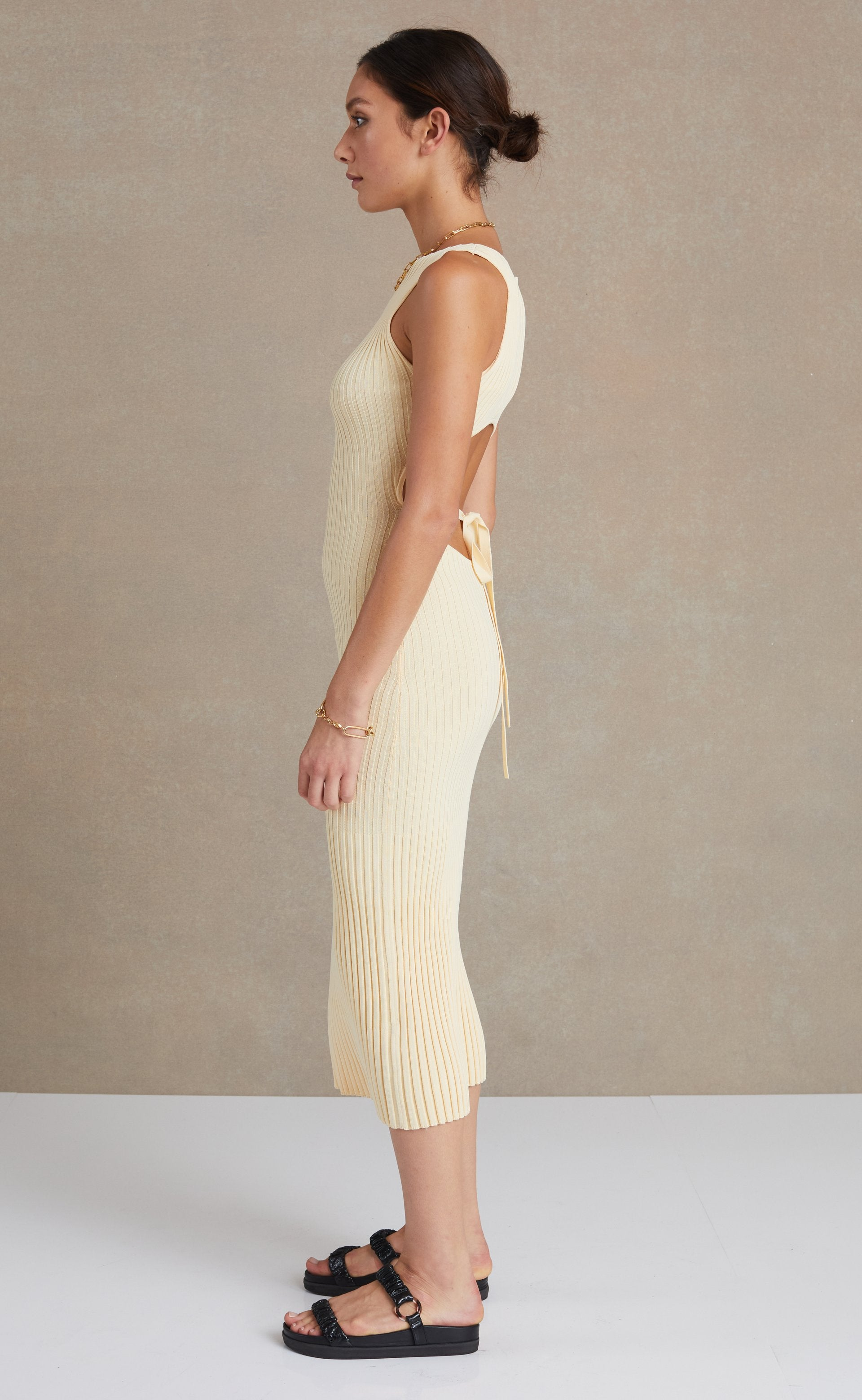 Lyla Knit Midi Dress - Butter