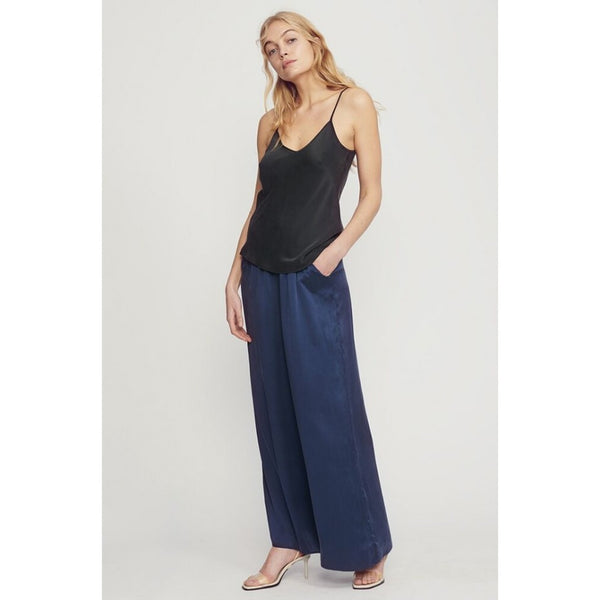 Silk Laundry Bias Cut Cami - Black