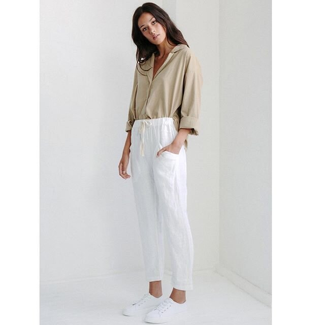 Little Lies luxe linen Pants - White