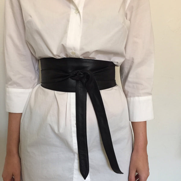 Leather Wrap Around Obi Belt