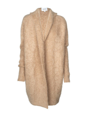 FWRD Elle Angora Cardigan in Almond