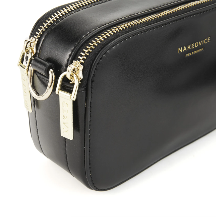 The Met Branded Gold Side Bag