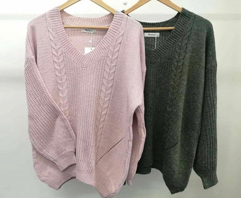 Demi Knit - Washed Pink - SALE