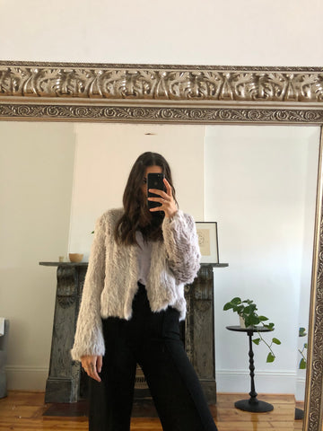 Laura Fur Jacket - Two Tone
