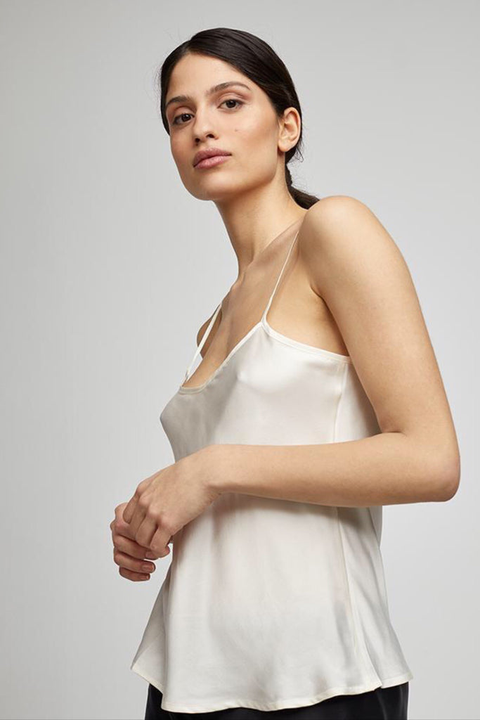 Silk Laundry Bias Cut Cami in Ivory