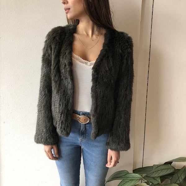 Laura Fur Jacket - Khaki