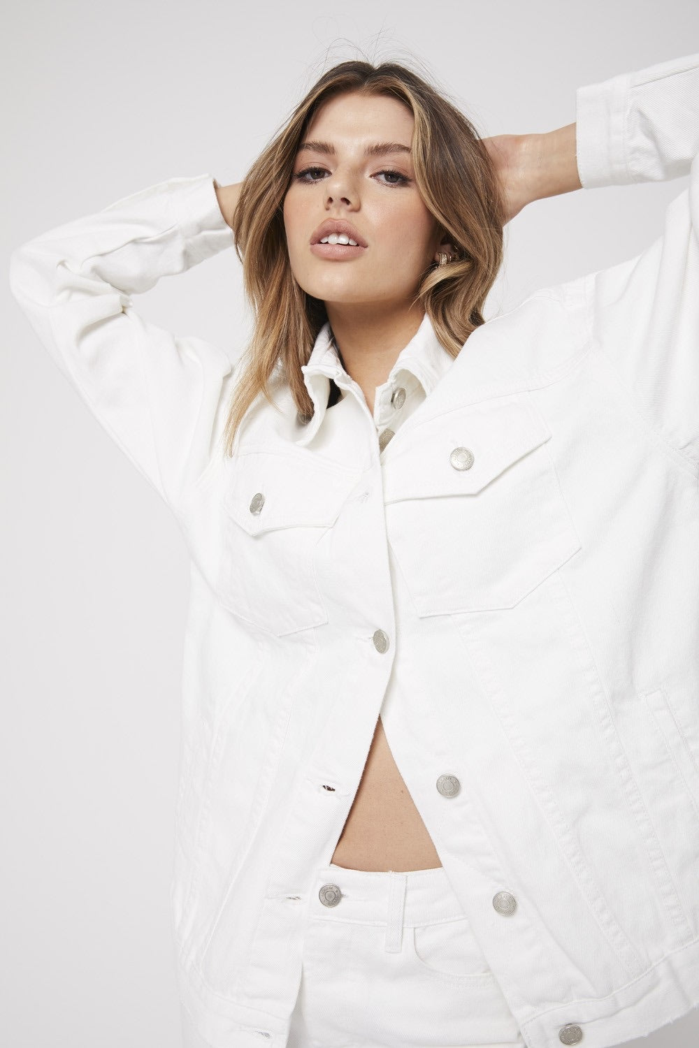 Rozalia X Atoir - The Denim Jacket - White