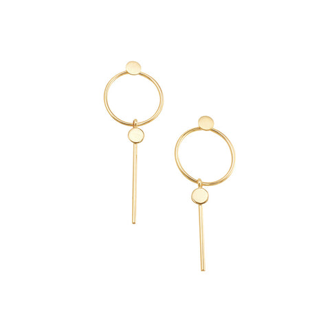 Hoop & Bar Earring