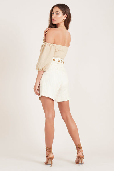 Ministry of Style Cassia Shorts in Ivory