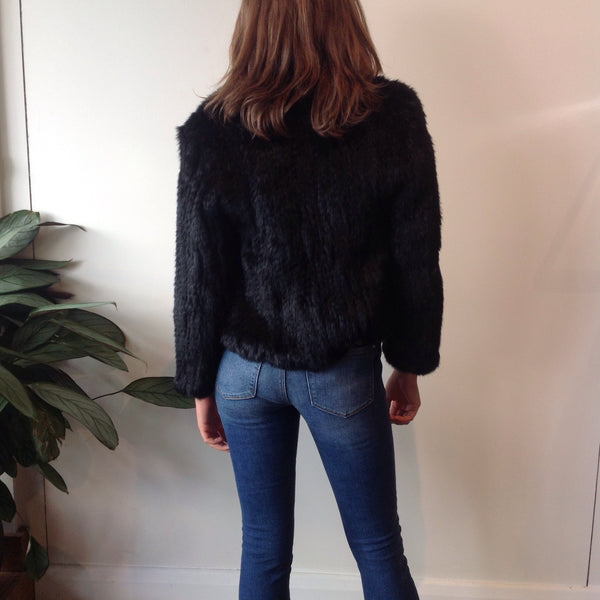Laura Fur Jacket - Black