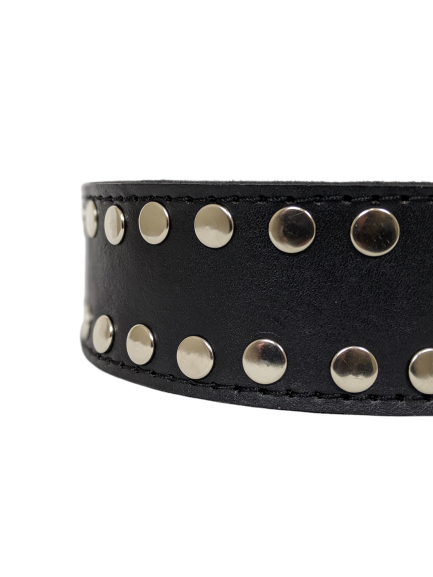 The Jackson Studded Leather Belt
