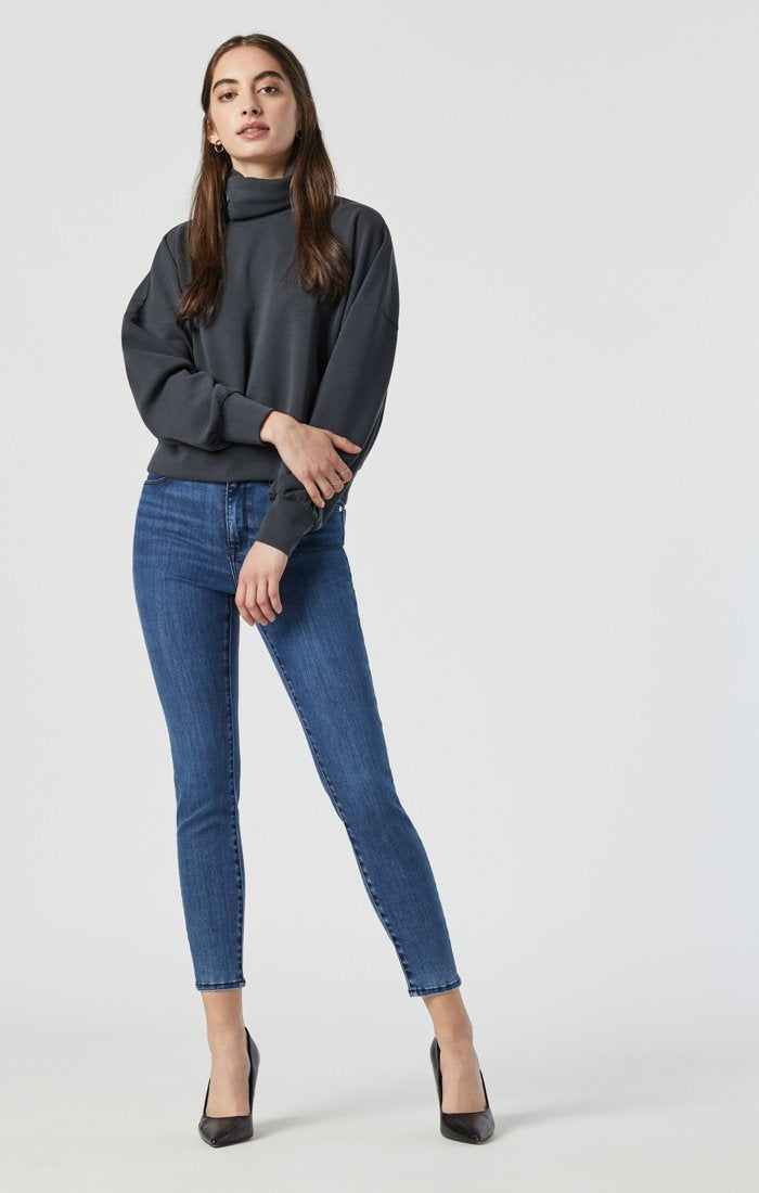 Tess Ankle Jean - Indigo Brushed Supersoft