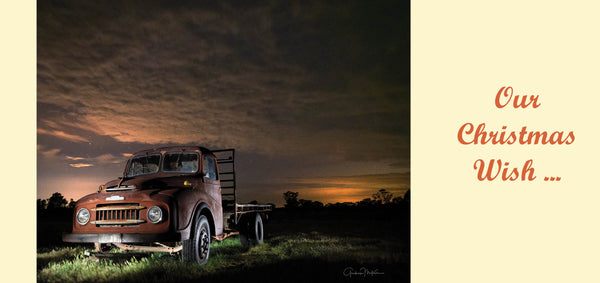 Personalised Christmas Card - Old Austin Truck
