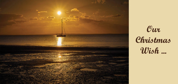 Personalised Christmas Card - Sailing into the sunset