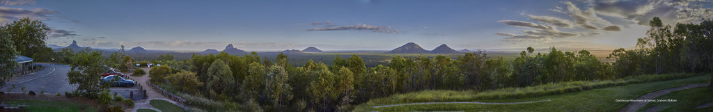 Digital Download Glasshouse Mountains at Sunset Panorama