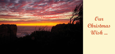 Personalised Christmas Card - Sunset on Great Ocean Road