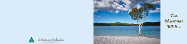 Personalised Christmas Card - Lake Mckenzie