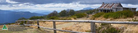 Greeting Card Panorama: Craig's Hut, Mt Stirling, Victoria