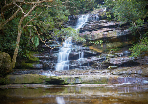 Greeting Card: Somersby Falls, Brisbane Water National Park, NSW