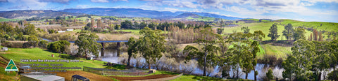 Greeting Card Panorama: Derwent River Valley, Tasmania