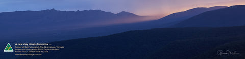 Greeting Card Panorama: Sunset, The Grampians, Victoria