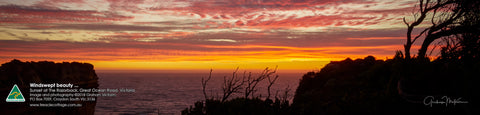 Greeting Card Panorama: The Razorback, Great Ocean Road, Victoria
