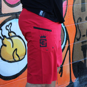 Box2Beach Board Shorts red back right