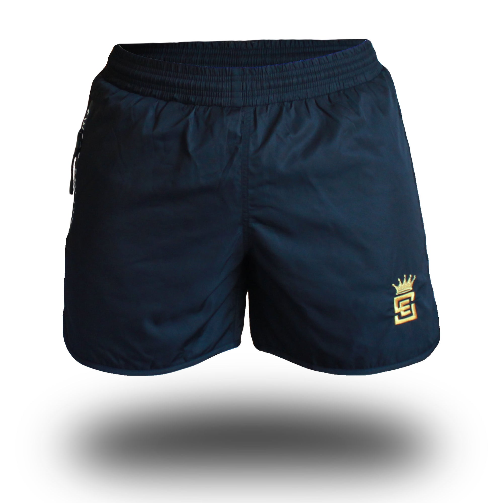 mens get shorty shorts black front