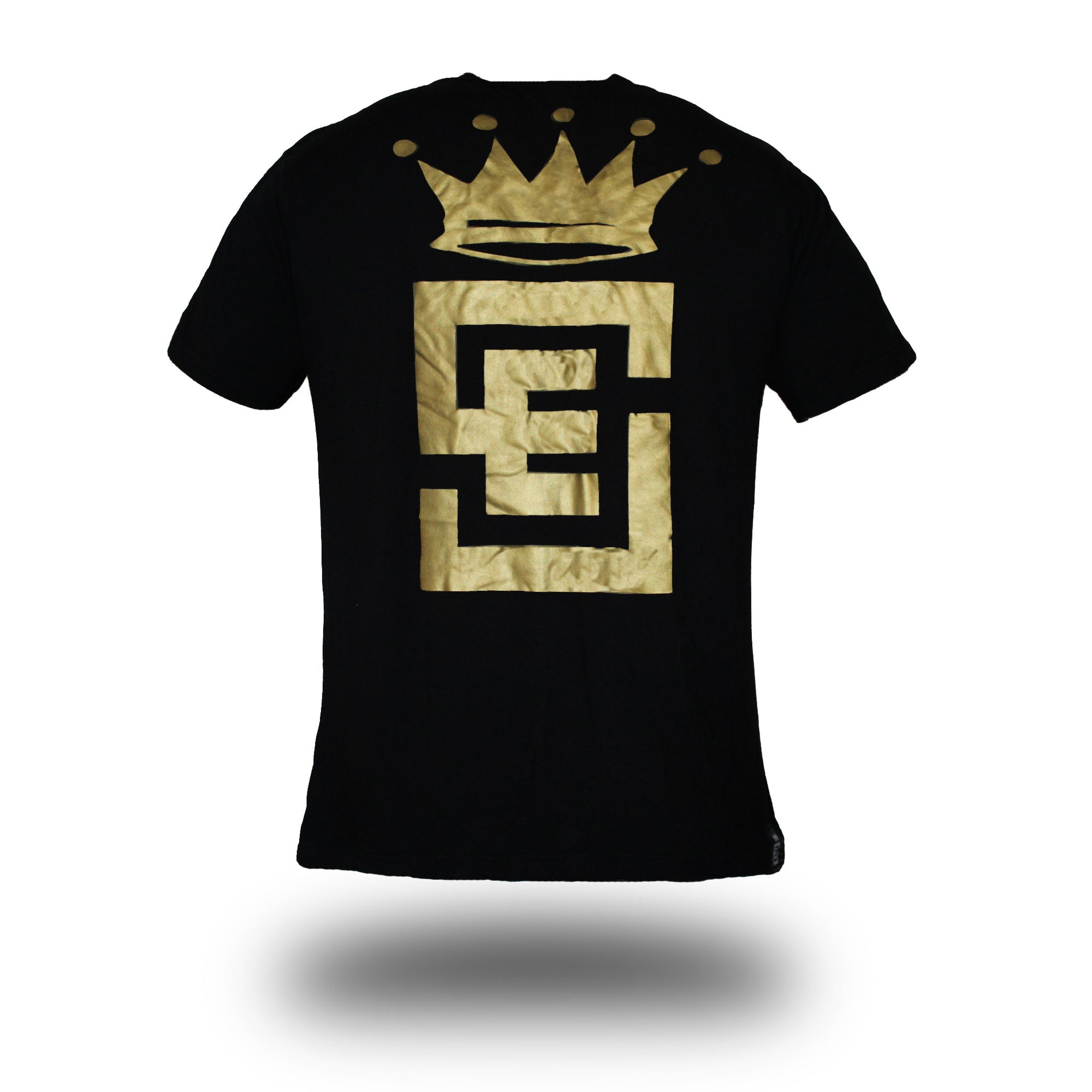 Mens limited edition tee black with gold print front