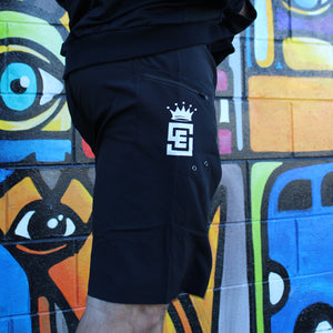 Box2Beach Board Shorts black Right back