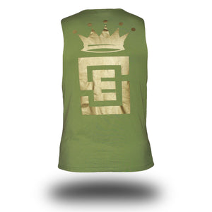 mens unlimited muscle green back