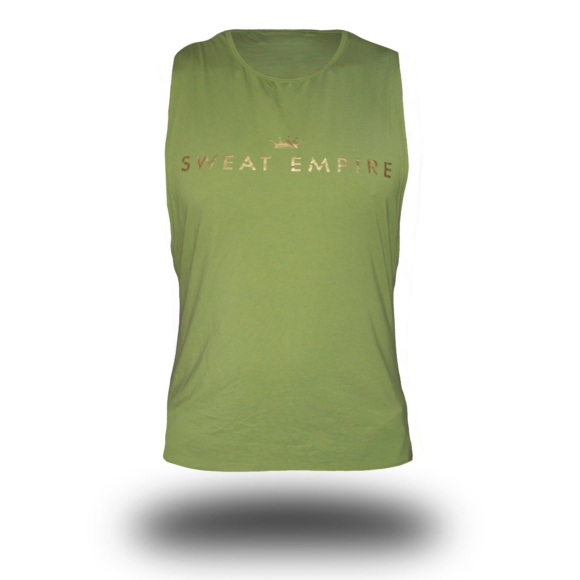mens unlimited muscle green front
